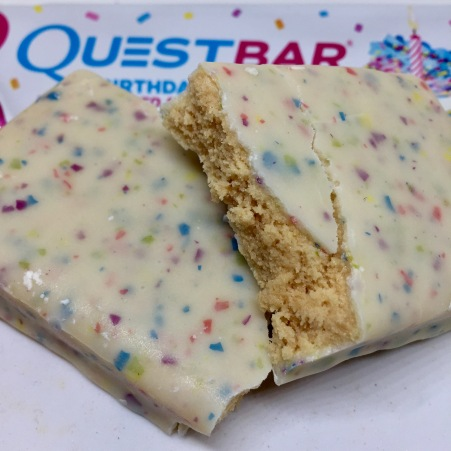 REVIEW Quest Birthday Cake Coated Protein Bar